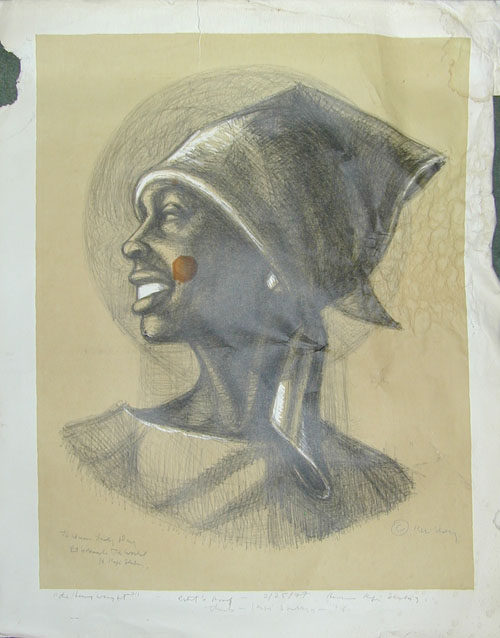 Queen Lady Day by H. Kofi Shabaz (Lithograph)