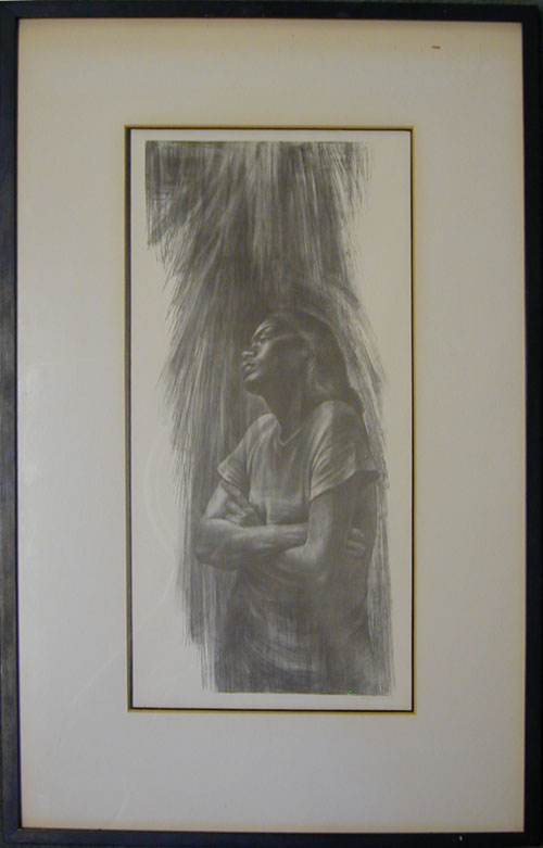 Untitled 1960 by Charles White (Photo offset lithograph)